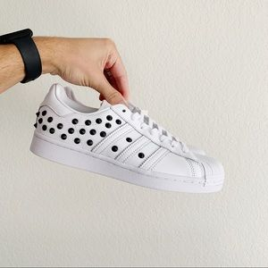 Adidas Supertar Studded White Womens Sneaker NWT